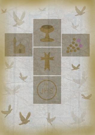 communion wafer: crucifix