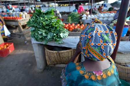 zambia: African woman to the market