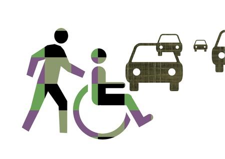 precedence: Handicap   Stock Photo
