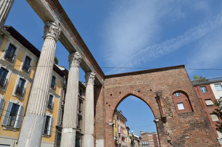ticinese: Milan in the Naviglio district Stock Photo
