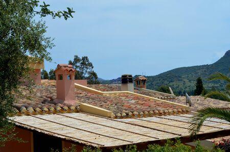 lintels: Roofs Stock Photo