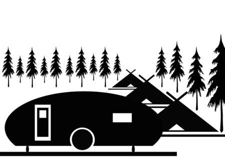 brushwood: camping  Stock Photo
