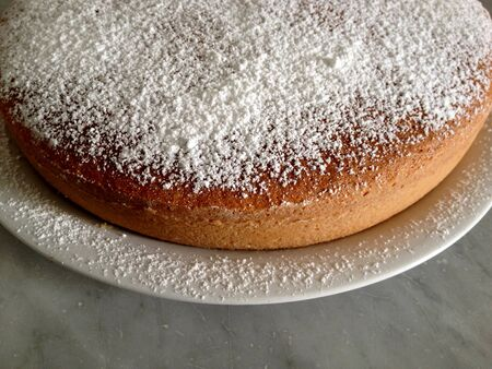 sugar veil: cake with sugar   Stock Photo