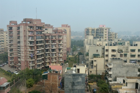 new delhi: view of buildings of the city of New Delhi Stock Photo