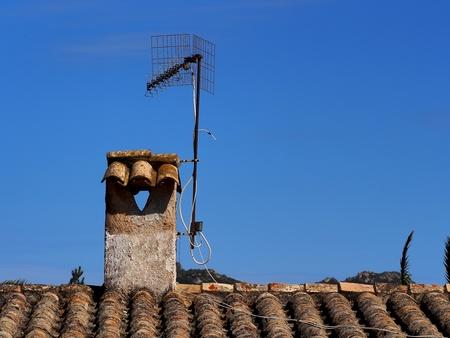 spar: an old chimney pots and an old spar