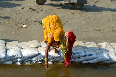 ganges: Indian woman Stock Photo