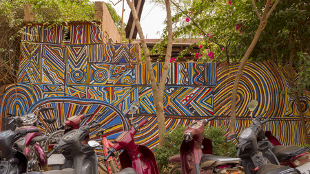 Murals in the African city of Ouagadougou