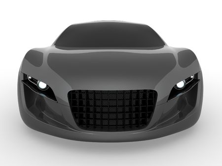 Gray concept car. Rendered with Vray 1.50SP2