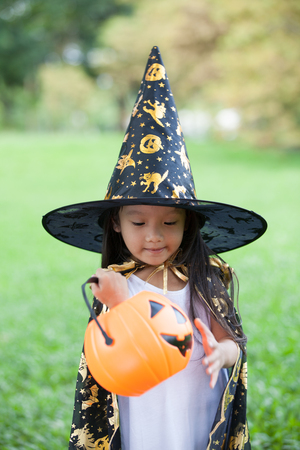 Little girl in Halloween dress