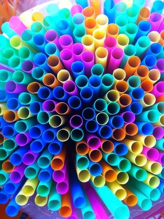 drinking straw: Vista dall'alto di cannuccia