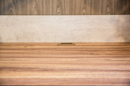 Blank wooden table background Stock Photo