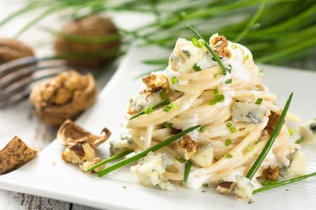 gorgonzola: Pasta with gorgonzola Stock Photo