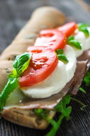 caprese: Caprese Sandwich Stock Photo