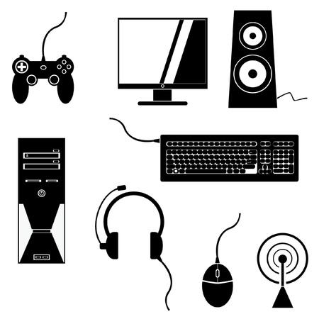 Video Game Pictogrammen Stock Illustratie