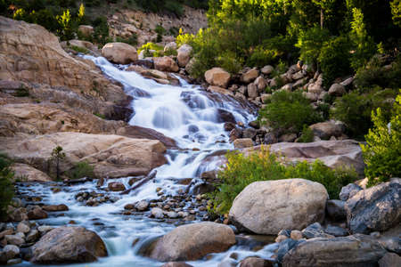 alluvial: Long exposure of the Alluvial fan at the Rocky Mountain National Park.
