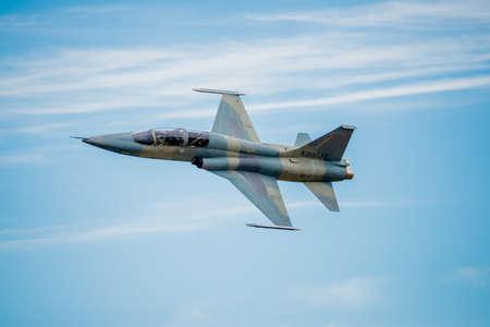 fighter jet: SAN ANTONIO, USA - October 31, 2015: F-5 Fighter Jet