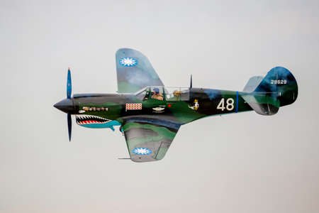 ww2: SAN ANTONIO, USA - October 31, 2015: WW2 War plane P-40 Warhawk Editorial