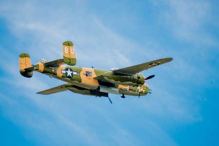 ww2: SAN ANTONIO, USA - October 31, 2015: WW2 B-25 Bomber