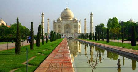 mumtaz: Taj Mahal In The Morning Stock Photo