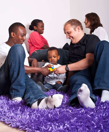 Interracial friends and family Stock Photo - 7093816
