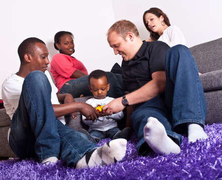 Interracial friends and family Stock Photo - 7093818
