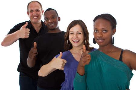 multiracial group: Joven grupo multirracial fresca