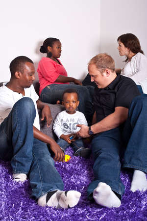 Interracial friends and family Stock Photo - 7128793