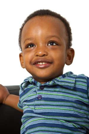 ni�os africanos: Joven familia americana afro