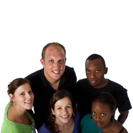 diverse people: Young multiracial group