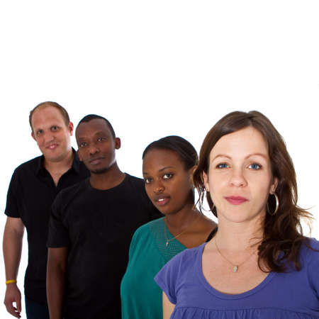 Young multiracial group photo