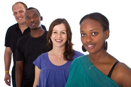 multiracial group: Joven grupo multirracial