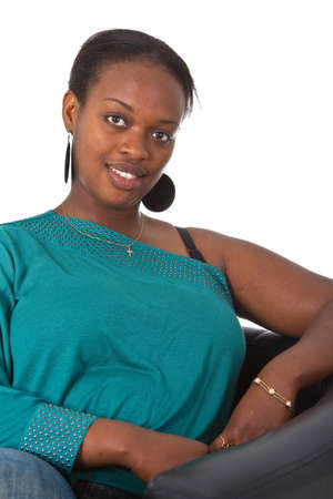 Young afro american woman in a studio setting. Stock Photo - 7410145