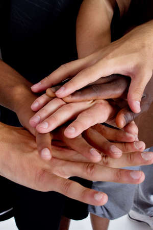 Series of various hands representing diversity.Lots of hands of different colors. Stock Photo - 8090830