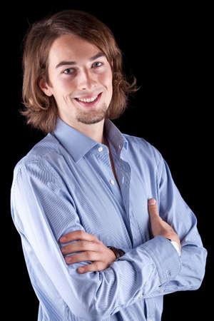 mann mit langen haaren: Junge frisch Business-Mann mit langen Haaren - Europ�ischen. Lizenzfreie Bilder