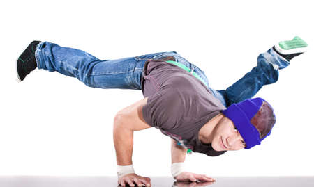 Young handsome fresh man breakdancing with stylish clothes. Stock Photo - 8291608