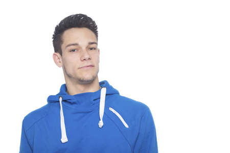 Portrait Of Young Man Isolated On White Background photo