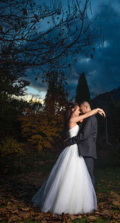 Portrait Of Happy Beautiful Young Married Couple photo