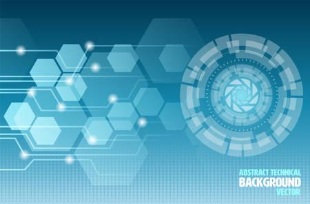Abstract Background Technical Ilustração