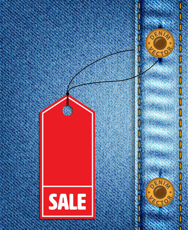 Red Sale Lable and Denim Jeans