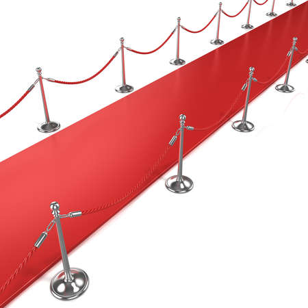 Red carpet, diagonal side view Stock Photo