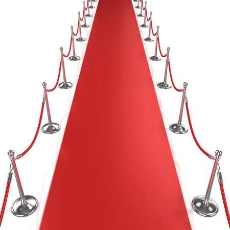 walk of fame: Red carpet, front view Stock Photo