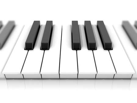 octave: Set of piano keys. One octave.