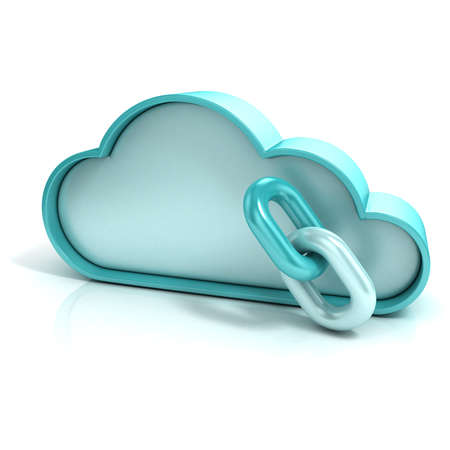 remote backup service: Cloud links 3d computer icon isolated