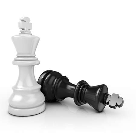 stubbornness: White king chess mate, on white background