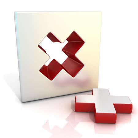 multiplicar: Signo Multiplicar. 3D rinden la ilustración aislada en blanco. Vista lateral