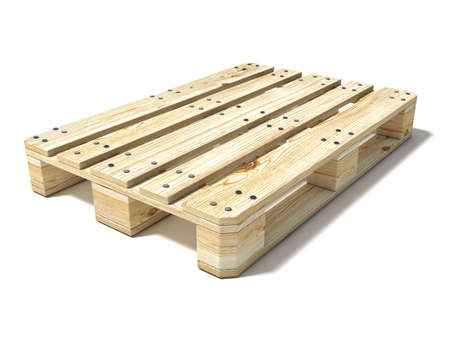 euro pallet: Euro pallet. 3D render illustration isolated on white background