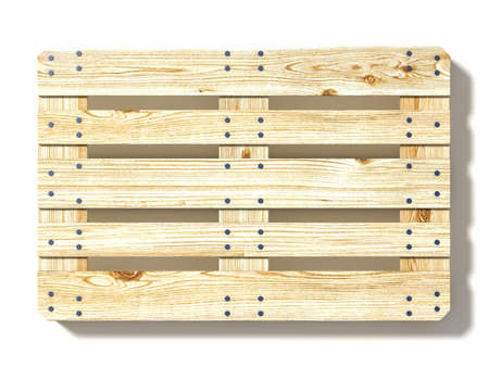 Euro pallet. Top view. 3D render illustration isolated on white background