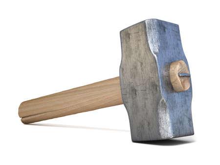 martillo: Martillo. 3D rinden la ilustraci�n aislada en el fondo blanco