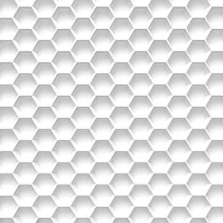 vignetting: Black and white honeycomb. Abstract background. 3D illustration isolated on white background
