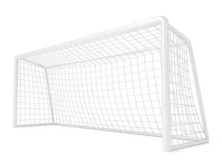 Football - soccer gate. 3D render illustration isolated on white background Stock Photo